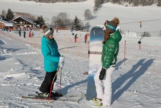 Alpine skiing at Crêt