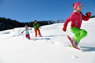 Snowshoeing and hiking paths