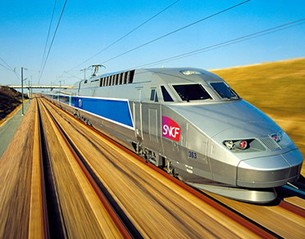 Venir en train
