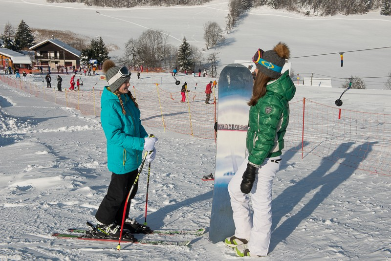 Alpine skiing at Crêt